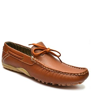 Zoot24 MenS Tan Casual Loafers (3090ROLLEM8-Tan)