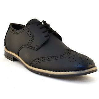 Zoot24 MenS Black Formal Lace-Up Shoes (0081HOLYBRO-BLACK)