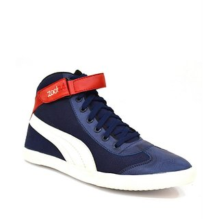 Zoot24 MenS Blue Casual Lace-Up Shoes (6042CULTRBLUEWHITE2)