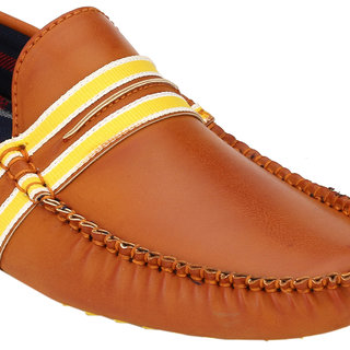 Wave Walk MenS Tan Casual Loafers (DAMOCHI-55-TAN)
