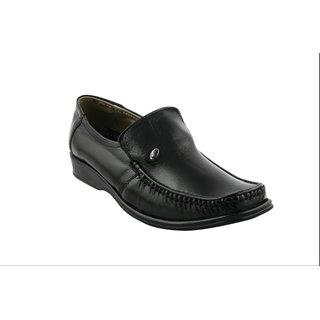 Pureits Leathers MenS Black Slip On Casuals Shoes (PUREITS-A-9015-BLACK)