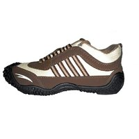 Alex  Brown And White Running Sports Shoes