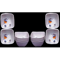 Set Of 12 Pcs Trendy White Melamine Vegetable Bowls Design 11