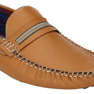 Wave Walk MenS Tan Casual Loafers (DAMOCHI-56-TAN)
