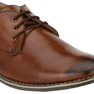 Wave Walk MenS Brown Lace-Up Casuals Shoes (TZ004-BROWN)