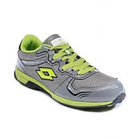 Lotto MenS Grey  Green Lace-Up Sports Shoes (AL3211)
