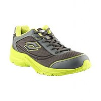 Lotto MenS Grey  Green Lace-Up Sports Shoes (AR2934)