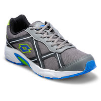 Lotto MenS Grey  Black Lace-Up Sports Shoes (AR3261)