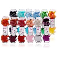 ADS BUDGET COLOR COMBINATION NAIL POLISH 12pcs In 24 Color Free Liner  Rubber B