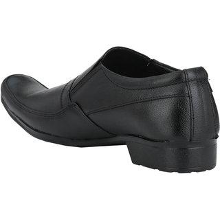 Pureits Leathers MenS Black Slip On Casuals Shoes (PUREITS-A-9022-BLACK)