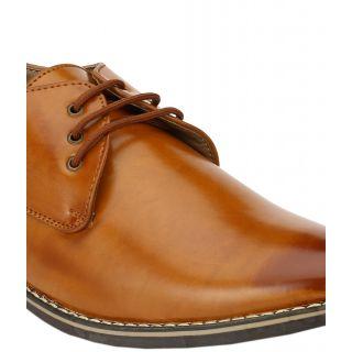 Wave Walk MenS Tan Lace-Up Casuals Shoes (TZ004-TAN)