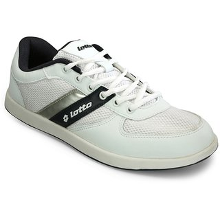 Lotto MenS White  Black Lace-Up Casual Shoes (AV3782)