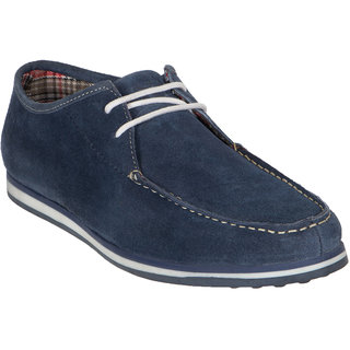 Numero Uno MenS Blue Lace-Up Boat Shoes (NUSM-460-NAVY)