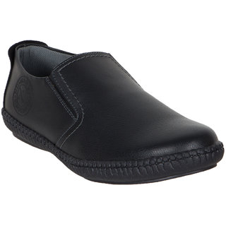 Numero Uno MenS Black Casuals Lace-Up Shoes (NUSM-495-BLACK)