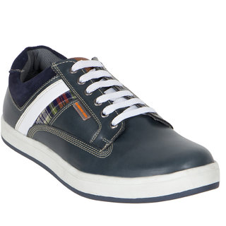 Numero Uno MenS Blue Sneakers Lace-Up Shoes (NUSM-501-NAVY)