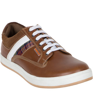 Numero Uno MenS Tan Sneakers Lace-Up Shoes (NUSM-501-TAN)