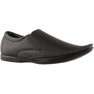 Tycoon Men Black Slip On Formal Shoes (ZEESS-041-BL)