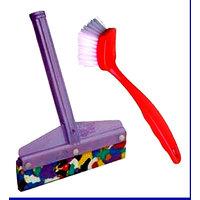 Combo Of Heavy Duty Kitchen Wiper & Kitchen Sink Cleaner Brush - 91918914