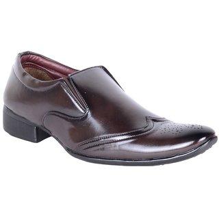 Walkalite Mens Brown Color Formal  Slip-on Shoes