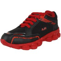 Mens Black  Red Sports Shoes (Running Shoes)