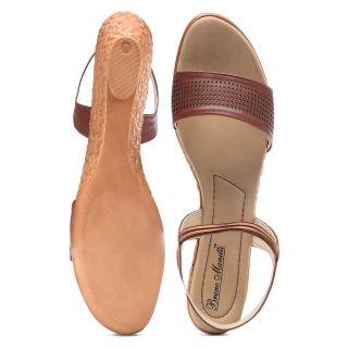 Bruno Manetti Women Tan Sandals (3154-Tan)