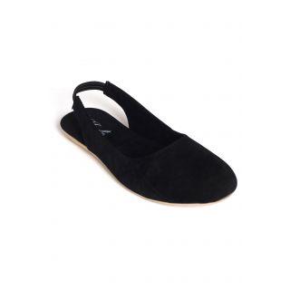 Jade WomenS Black Casual Slip On Sandals (JDB103-Black)