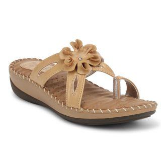 Labriza WomenS Beige Casual Sandals (2419BEIGE)