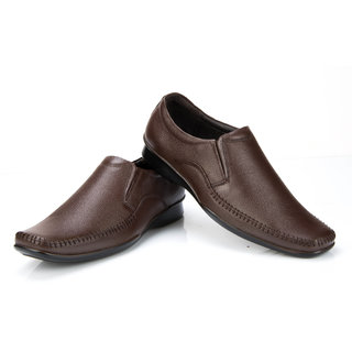 100 Walker MenS Brown Formal Slip On Shoes (VALET-BROWN)