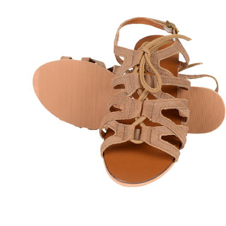 Berry Purple WomenS Tan Casual Open Toe Sandals (HML717)
