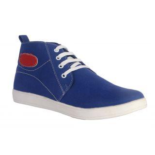 Salt MenS Blue Casual Lace-Up Shoes (1401)
