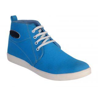 Salt MenS Blue Casual Lace-Up Shoes (1403)