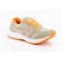 Provogue MenS Gray Lace-Up Sports Shoes (PV1095-DK.GREY-RED)