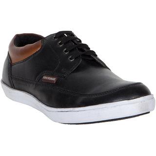 Provogue MenS Black Casual Lace-Up Shoes (PV7101-BLACK)