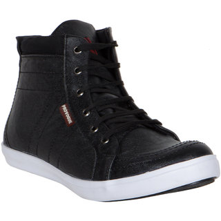 Provogue MenS Black Casual Lace-Up Shoes (PV7092-BLACK)