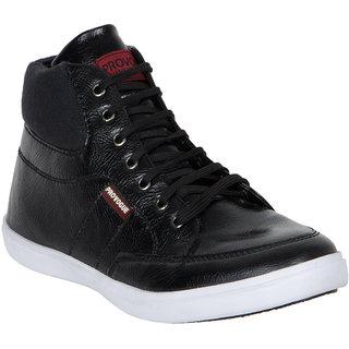 Provogue MenS Black Casual Lace-Up Shoes (PV7095-BLACK)