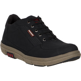 Provogue MenS Black Casual Lace-Up Shoes (PV7133-BLACK)