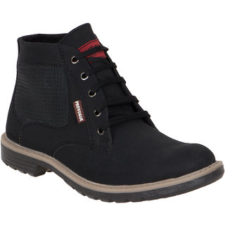 Provogue MenS Black Casual Lace-Up Shoes (PV7139-BLACK)