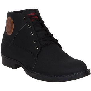 Provogue MenS Black Casual Lace-Up Shoes (PV7103-BLACK)