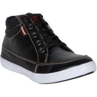 Provogue MenS Black Casual Lace-Up Shoes (PV7129-BLACK)