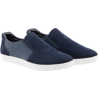 Randier MenS Blue Casuals Slip On Shoes (CFL017)