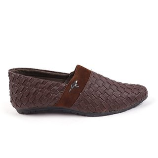 Monaz MenS Brown Slip On Casuals Shoes (MZC-0091)