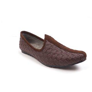 Monaz MenS Brown Slip On Casuals Shoes (MZC-0101)