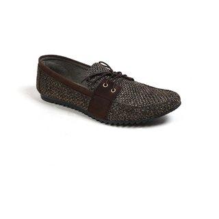 Monaz MenS Brown Lace-Up Casuals Shoes (MZC-0114)