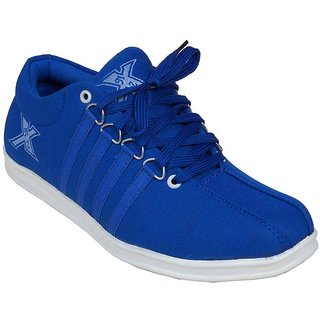 Monaz MenS Blue Lace-Up Casuals Shoes (MZS-5012)