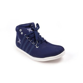 Monaz MenS Blue Lace-Up Casuals Shoes (MZS-5014)