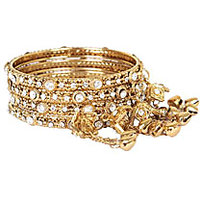 GOLDEN BANGLES SET (SET OF 4)