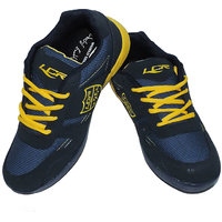 Lancer Denmark Navy Blue  Yellow Stylish Sports Shoes For Men