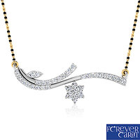0.33ct Natural Diamond Mangalsutra 925 Sterling Silver Mangalsutra M-0003