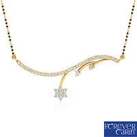 0.35ct Natural Diamond Mangalsutra 925 Sterling Silver Mangalsutra M-0007