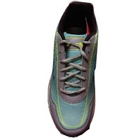 Lakhani MenS Grey,Yellow Lace-Up Sports Shoes (14094)
